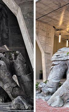 Danielio Popperio išskirtinis bruožas – gigantiški meno kūriniai